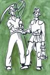 Ackerbauer und Bergmann auf gr